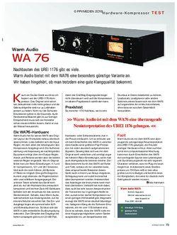 KEYS Warm Audio WA 76