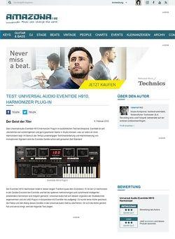 Amazona.de Test: Universal Audio Eventide H910, Harmonizer Plug-in