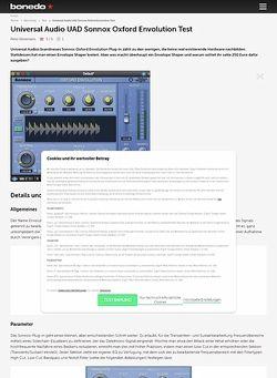 Bonedo.de Universal Audio UAD Sonnox Oxford Envolution