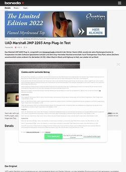 Bonedo.de UAD Marshall JMP 2203 Amp Plug-In