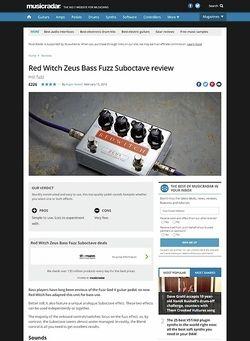 MusicRadar.com Red Witch Zeus Bass Fuzz Suboctave