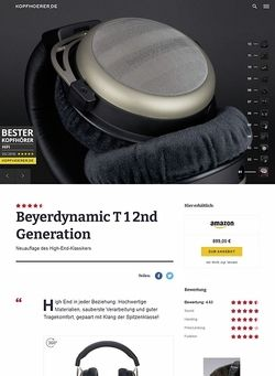 Kopfhoerer.de Beyerdynamic T1 2ND Generation