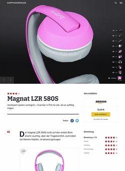 Kopfhoerer.de Magnat LZR 580 S Pink/White