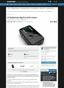 MusicRadar.com IK Multimedia iRig Pro DUO