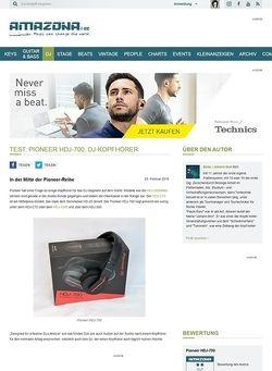Amazona.de Test: Pioneer HDJ-700, DJ-Kopfhörer