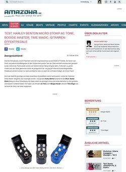 Amazona.de Test: Harley Benton Micro Stomp AC Tone, Boogie Master, Time Magic, Gitarren-Effektpedale