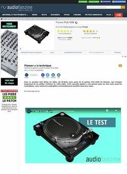 Audiofanzine.com Pioneer PLX-1000