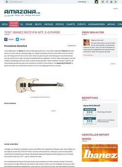 Amazona.de Test: Ibanez RG721FM NTF, E-Gitarre