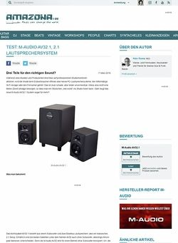 Amazona.de Test: M-Audio AV32.1, 2.1 Lautsprechersystem
