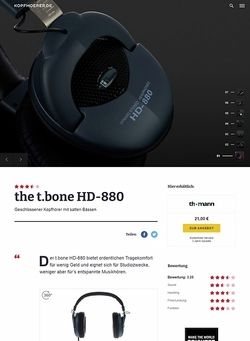 Kopfhoerer.de the t.bone HD 880