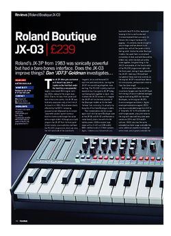 Future Music Roland Boutique JX-03