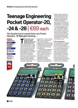 Future Music Teenage Engineering Pocket Operator-20, -24 & -28