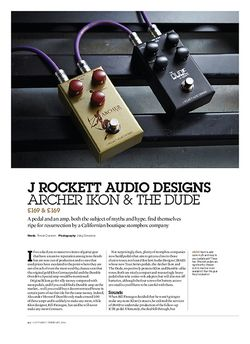Guitarist J Rockett Audio Designs Archer Ikon & The Dude