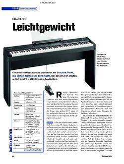 Tastenwelt Test: Roland FP-4 - Leichtgewicht