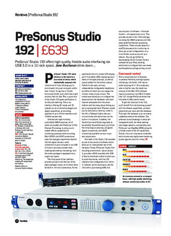 Future Music PreSonus Studio 192