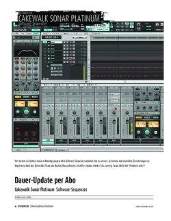 Sound & Recording Cakewalk Sonar Platinum - Software-Sequenzer