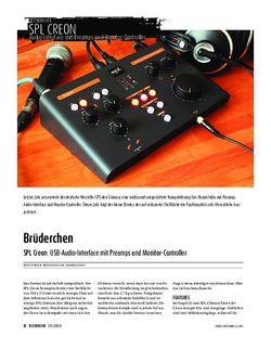 Sound & Recording SPL Creon - USB-Audio-Interface mit Preamps und Monitor-Controller