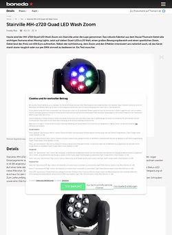 Bonedo.de Stairville MH-z720 Quad LED Wash Zoom