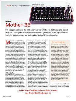 KEYS Moog Mother 32