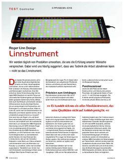 KEYS Roger Linn Design Linnstrument