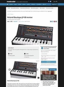 MusicRadar.com Roland Boutique JP-08