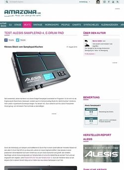 Amazona.de Test: Alesis Samplepad 4, E-Drum Pad