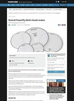 MusicRadar.com Roland PowerPly Mesh Heads