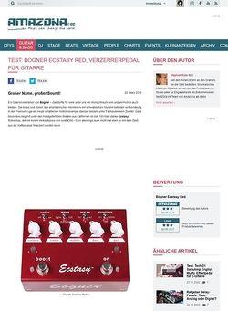 Amazona.de Test: Bogner Ecstasy Red, Verzerrerpedal für Gitarre