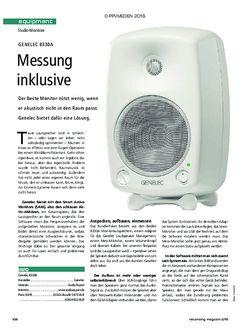 Recording Magazin Genelec 8330A