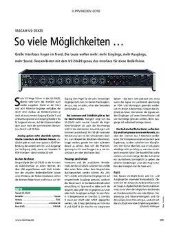 Recording Magazin Tascam US-20x20
