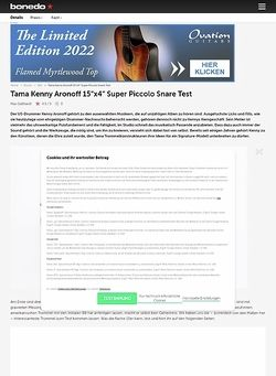 Bonedo.de Tama Kenny Aronoff 15x4 Super Piccolo Snare
