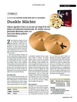 SOUNDCHECK Zildjian K Custom Dark Box Set & Crashes