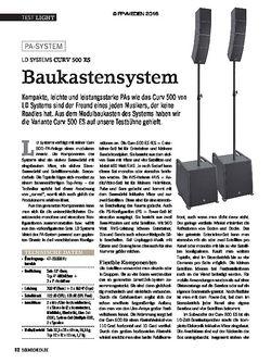 SOUNDCHECK LD Systems Curv 500 ES