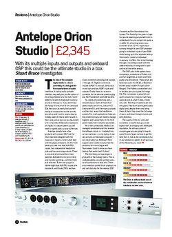 Future Music Antelope Orion Studio