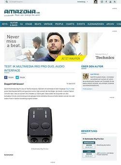 Amazona.de Test: IK Multimedia iRig Pro Duo, Audio Interface