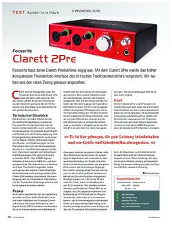 KEYS Focusrite Clarett 2Pre