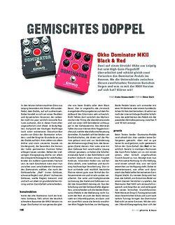 Gitarre & Bass Okko Dominator MKII Black & Red