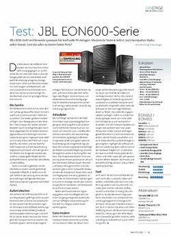 Beat JBL EON600-Serie