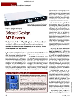KEYS Test: Bricasti Design M7 Reverb
