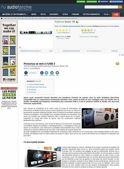 Audiofanzine.com PreSonus Studio 192