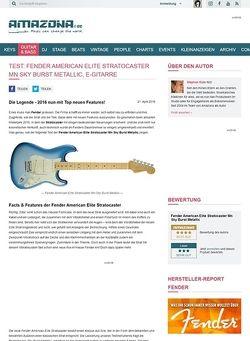 Amazona.de Test: Fender American Elite Stratocaster Mn Sky Burst Metallic, E-Gitarre