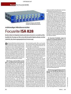KEYS Test: Focusrite ISA 828