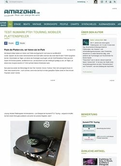 Amazona.de Test: Numark PT01 Touring, mobiler Plattenspieler