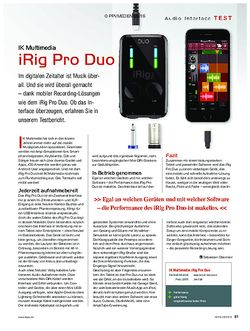 KEYS IK Multimedia iRig Pro Duo