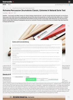Bonedo.de Rohema Percussion Drumsticks Classic, Extreme & Natural Serie Test