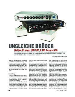 Gitarre & Bass Gallien-Krueger MB 500 & MB Fusion 500, Bass-Topteile