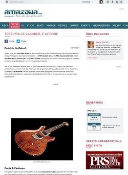 Amazona.de Test: PRS CE 24 Amber, E-Gitarre