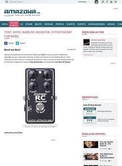 Amazona.de Test: Xotic Bass RC Booster, Effektgerät für Bass