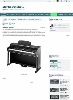 Amazona.de Test: Thomann DP-95, DP-31, Digitalpianos