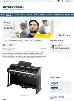 Amazona.de Test: Thomann DP-95, DP-31, Digitalpianos